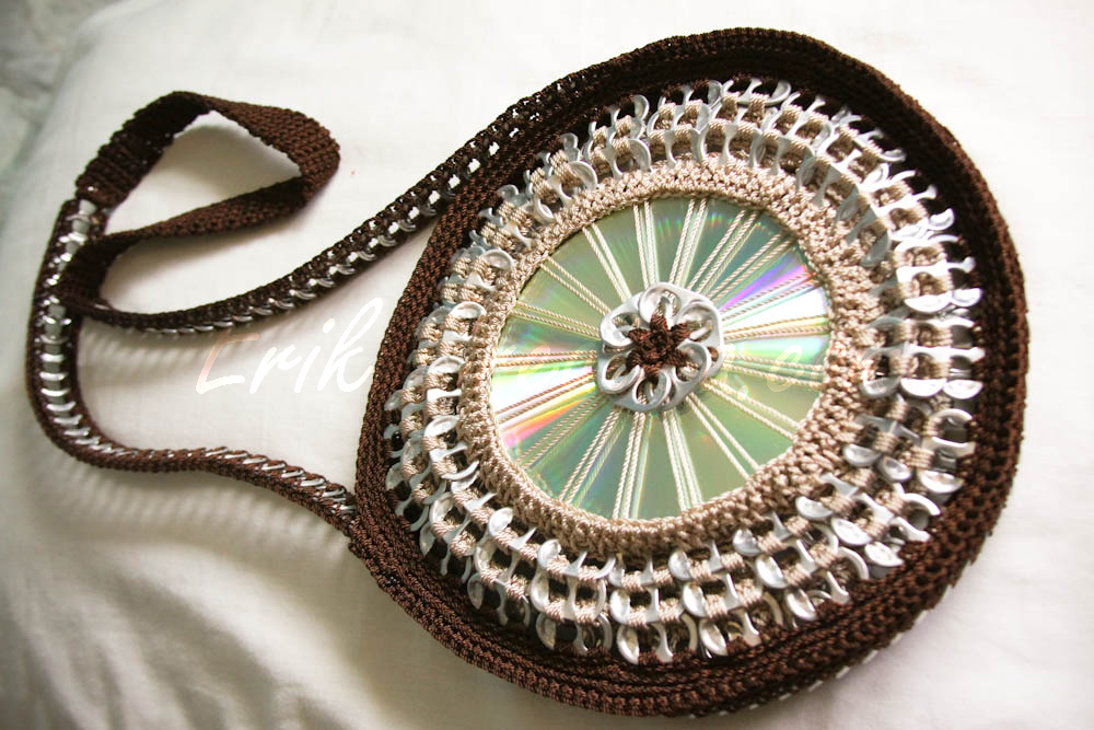 CD and pop tabs purse