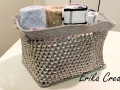 Rectangular pop tab basket
