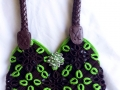 Water bottle plastic rings purse