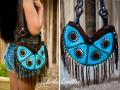 Hippie style pop tab purse
