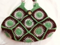 Granny squares soda tops purse