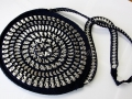 Round shaped pull tabs purse