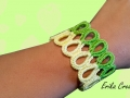 Water bottle plastic rings bracelet
