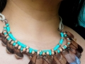Pine cone and beads necklace