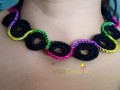 Plastic rings necklace