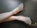 Pop tab sandals