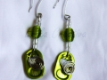 Monster tabs and beads earrings