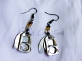 Aluminum can and square pop tabs earrings