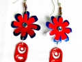 Aluminum can and beads earrings