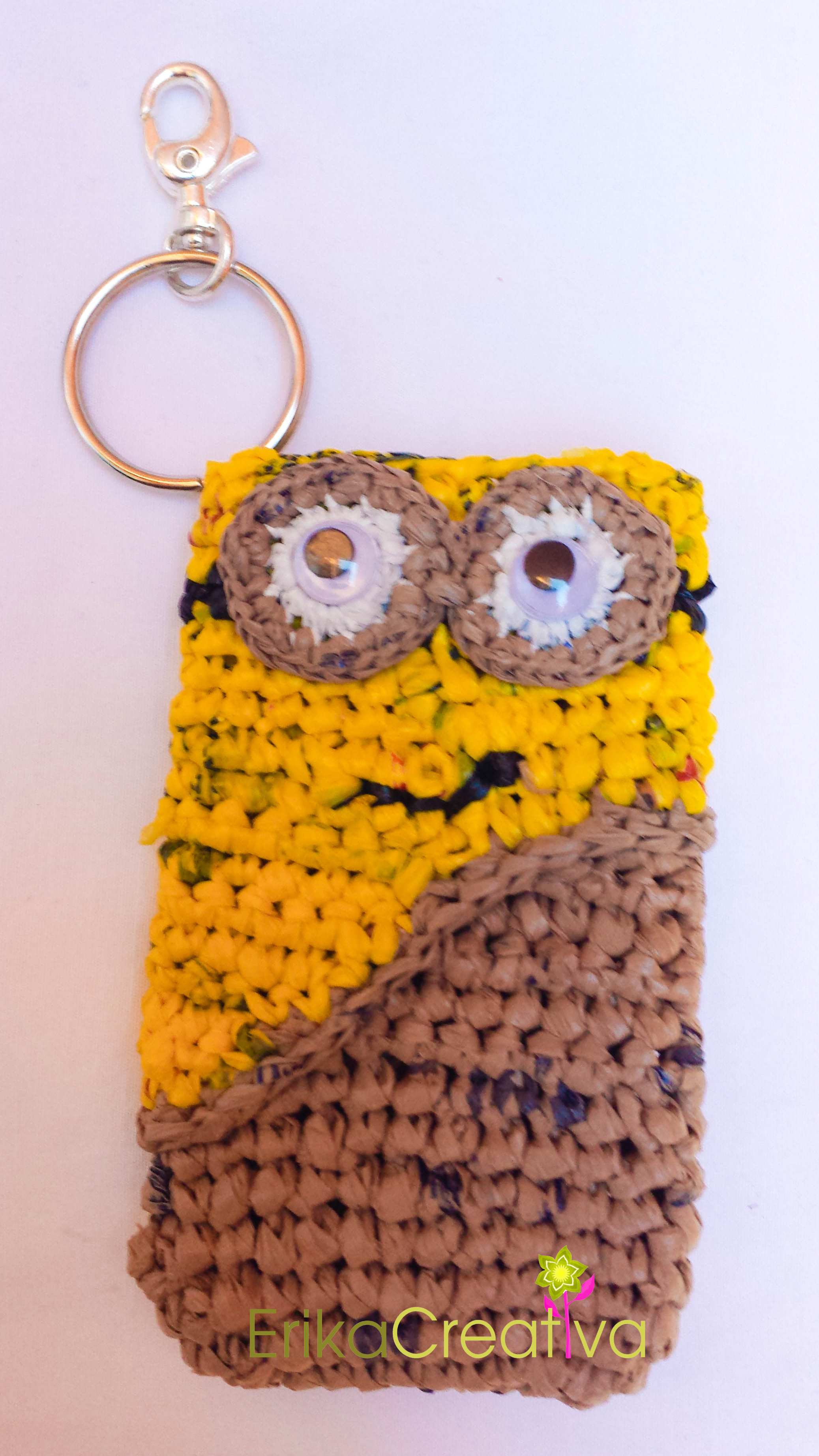 Minion inspired plastic bags cell phone case
