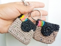 Instagram camera plarn key chain plarn coin purse