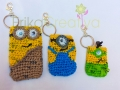 Minion inspired coin purses