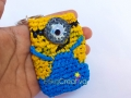 Minion inspired plarn coin purse