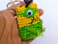 Minion inspired plarn chain key