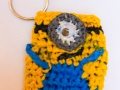 Minion inspired plastic bags coin purse