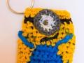 Minion inspired plastic bags coin purse