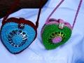 Heart shaped pop tops coin purse